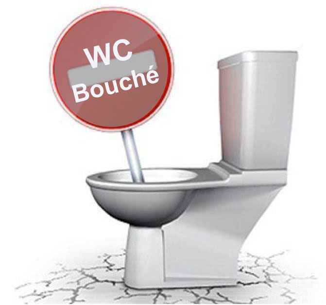 Wc bouché Paris 1er 75001